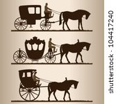 Silhouettes Of The Carriages....