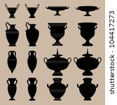 antique vase. the silhouettes... | Shutterstock .eps vector #104417273