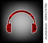 headset icon. vector. icon with ...   Shutterstock .eps vector #1044174700