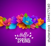 colorful spring background with ... | Shutterstock .eps vector #1044177160