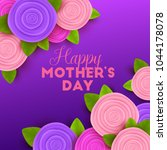 happy mother s day background... | Shutterstock .eps vector #1044178078