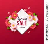 spring sale background with... | Shutterstock .eps vector #1044178084