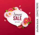 spring sale background with... | Shutterstock .eps vector #1044178090
