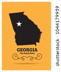 georgia us state map with... | Shutterstock .eps vector #1044179959