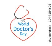 world doctor's day  logo with... | Shutterstock .eps vector #1044184603