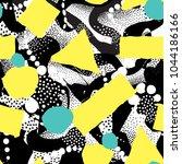 abstract blot seamless pattern. ... | Shutterstock .eps vector #1044186166