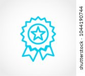 award icon isolated on white... | Shutterstock .eps vector #1044190744