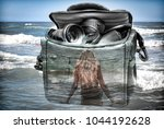 the picture with the double... | Shutterstock . vector #1044192628