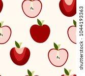 seamless apples pattern | Shutterstock .eps vector #1044193363