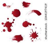 blood or drip splatters vector...   Shutterstock .eps vector #1044197419
