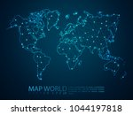 abstract mash line and point... | Shutterstock .eps vector #1044197818