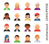 funny characters male and... | Shutterstock .eps vector #1044199558