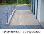 ramp way with stainless steel... | Shutterstock . vector #1044200200