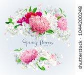 summer vintage floral round... | Shutterstock .eps vector #1044200248
