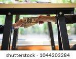 corrupted of hand businessman...   Shutterstock . vector #1044203284