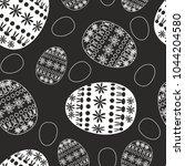vector monochrome easter... | Shutterstock .eps vector #1044204580