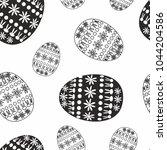 vector monochrome easter... | Shutterstock .eps vector #1044204586