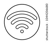 wifi icon i circle   Shutterstock .eps vector #1044206680
