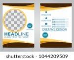 business brochure flyer design... | Shutterstock .eps vector #1044209509