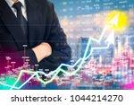 stock market digital graph... | Shutterstock . vector #1044214270