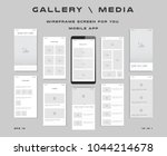 10 in 1 ui kits. wireframes... | Shutterstock .eps vector #1044214678