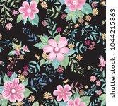 floral seamless pattern. flower ... | Shutterstock .eps vector #1044215863