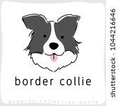 border collie   dog breed... | Shutterstock .eps vector #1044216646