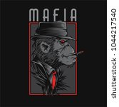 mafia monkey illustration | Shutterstock .eps vector #1044217540