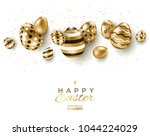 Easter Horizontal Border With...