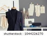 tailor's mannequin with half... | Shutterstock . vector #1044226270
