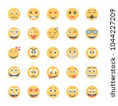 smiley flat icons set 3 | Shutterstock .eps vector #1044227209