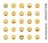smiley flat icons set 10 | Shutterstock .eps vector #1044227248