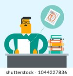 caucasian student disappointed... | Shutterstock .eps vector #1044227836