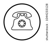 old home phone icon | Shutterstock .eps vector #1044233128