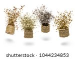 straw baskets with variety of... | Shutterstock . vector #1044234853