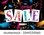 spring sale banner template... | Shutterstock .eps vector #1044235060
