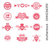 labels and badges for valentine ... | Shutterstock .eps vector #1044236350