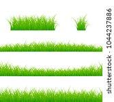 grass borders set. grass plant... | Shutterstock .eps vector #1044237886