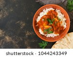 chicken korma with a spicy... | Shutterstock . vector #1044243349