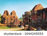 remainings of old hindu temples ... | Shutterstock . vector #1044245053