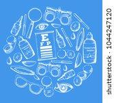 set of medical optometry... | Shutterstock .eps vector #1044247120