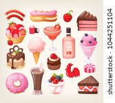 set of various delicious...   Shutterstock .eps vector #1044251104