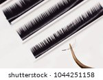 set eyelash extension tools...   Shutterstock . vector #1044251158