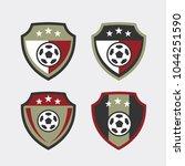 soccer football badge vector... | Shutterstock .eps vector #1044251590