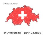 switzerland map hand drawn...   Shutterstock .eps vector #1044252898