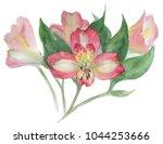 flower pink alstroemeria | Shutterstock . vector #1044253666