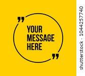 innovative vector quotation... | Shutterstock .eps vector #1044257740