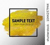 gold paint glittering textured... | Shutterstock .eps vector #1044257944