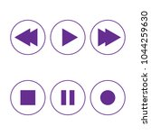 music button icons set. | Shutterstock .eps vector #1044259630
