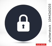 lock   vector icon | Shutterstock .eps vector #1044260203